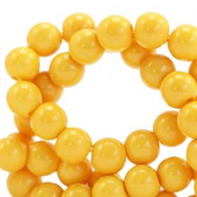 Glaskraal 6 mm opaque Spectra yellow