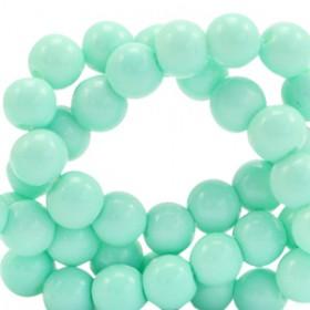 Glaskraal 6 mm opaque Mint turquoise