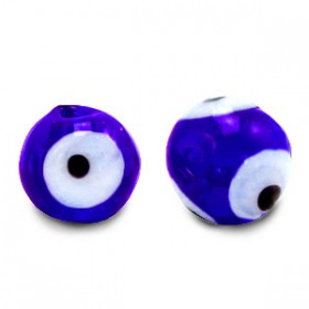 glaskralen Evil Eye 6 mm Cobalt blue