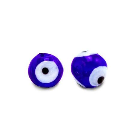 glaskralen Evil Eye 6 mm Cobalt blue