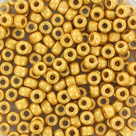 Miyuki Rocailles 8/0 Duracoat galvanized matt gold