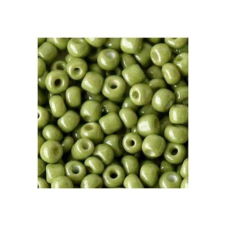 Rocailles 4mm Moss green