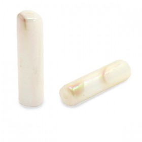 Schelp kralen tube long Cream beige-AB coating