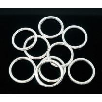 Gesloten ring Antiek verzilverd 12mm