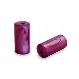 Schelp kralen tube short Port red purple