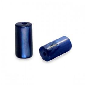 Schelp kralen tube short Montana blue