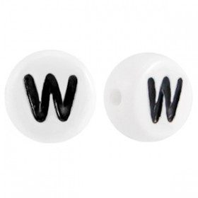 Acryl letterkraal rond W