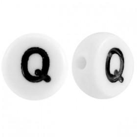 Acryl letterkraal rond Q