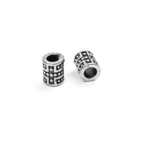 RVS spacer cylinder dotted Stainless steel