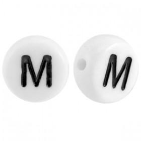Acryl letterkraal rond M