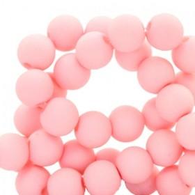 Acryl kralen mat rond 6mm Seashell pink