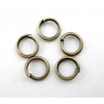 Open ringetjes metaal Brons