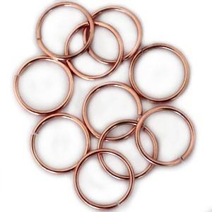 Open ringetjes metaal Rosé goud