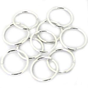 Open ringetjes metaal Zilver