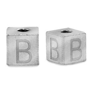 RVS letterkralen zilver